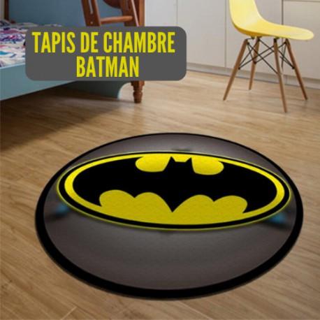 Batman une Batcave Logo Tapis Tapis Enfants Chambre à coucher maison DC Comics Super héros de forme ovale