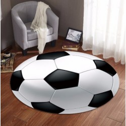 Tapis rond ballon de football
