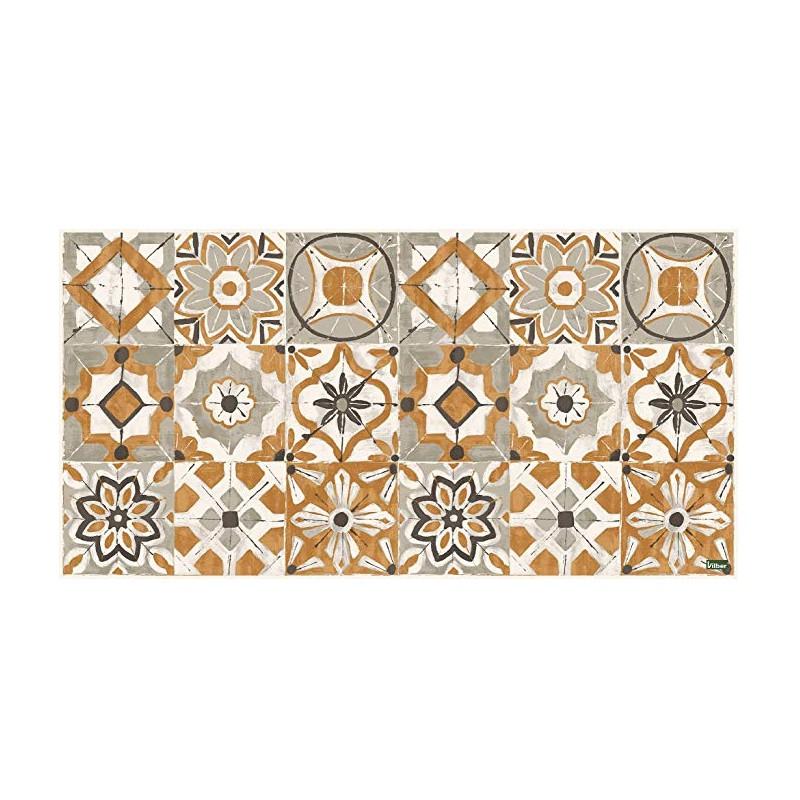 Acheter tapis en vinyl carreaux de ciment jaune tapis de Tapis carreaux de ciment pas cher