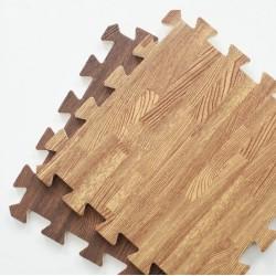 Tapis puzzle effet bois