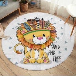 Tapis lion bébé