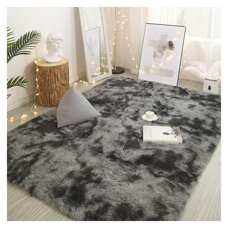 Tapis en shaggy gris