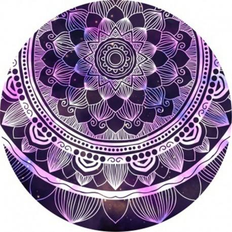 Tapis mandala violet