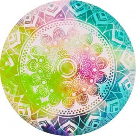 Tapis mandala multicolor