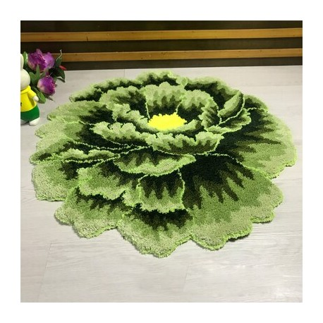 Tapis en forme de fleur