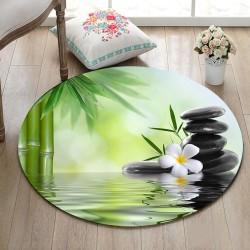 Tapis de bain zen avec bambou