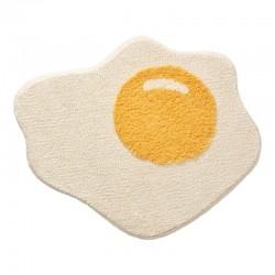 Tapis blanc d'œuf de bain drôle