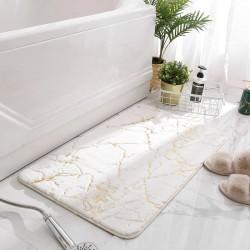 Tapis de bain effet marbre