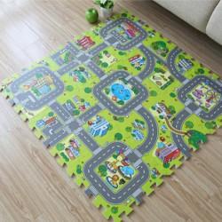 Tapis circuit en puzzle
