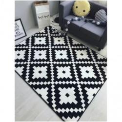 Tapis zigzag blanc et noir