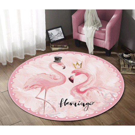 Tapis flamant rose